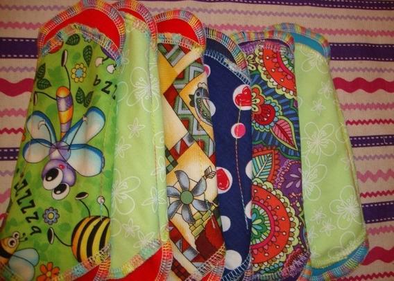 Paq 5 Panty Protector Ecológico Tela Diferentes Estampados