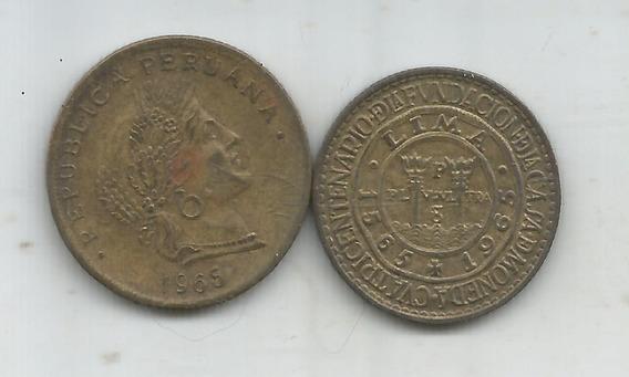 M 11032 Peru Lote 2 Monedas 1965