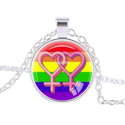 Colar Cabochon Orgulho Gay
