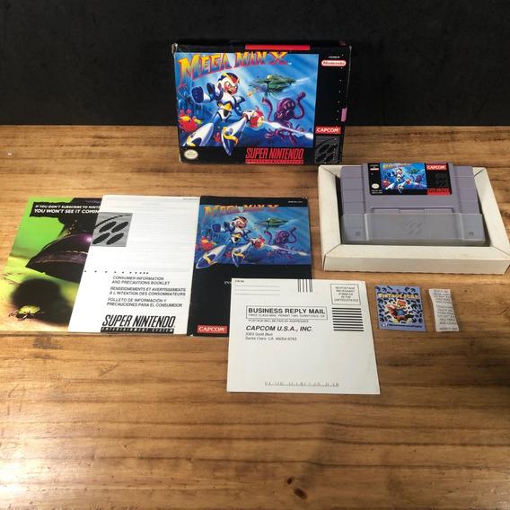 Mega Man X 100% Original Completo Na Caixa P Snes!! Raro!!