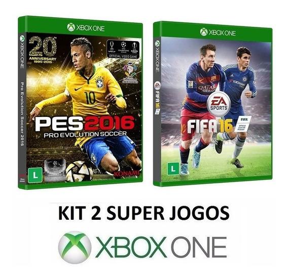 Fifa 16 + Pes 2016 - Midia Fisica Original Lacrado Xbox One