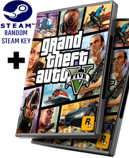 Random Steam Key + Gta 5 V - Grand Theft Auto 5 V Español - Pc Windows + Regalo