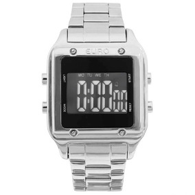 Relógio Euro Digital Prata Eug2510ab/3p C Nf-e