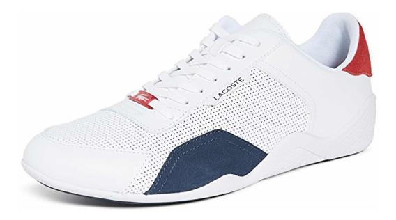 Tenis Para Hombre Lacoste Hapona Blanco Hombre Casual Zapato