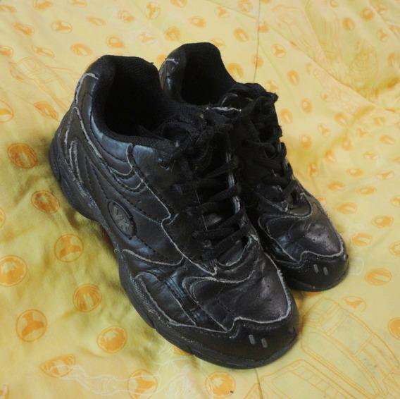 Zapatos Deportivos Escolares Negros Vita Kid Vk Talla 30
