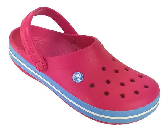 Crocs Originales Sueco Crocband Sandalia Promo Ros/ros