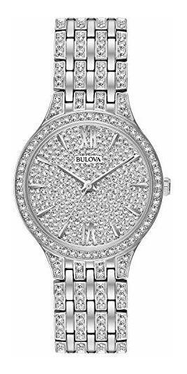 Bulova Reloj Con Swarovski Mujer Original