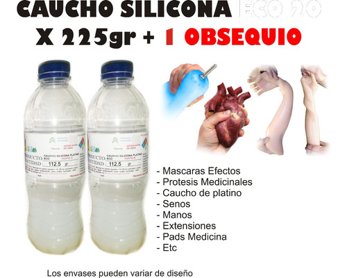 Caucho Silicona Liquido Mold Eco 20 X225g Mascaras Latex