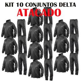 Kit 10 Conjunto Capa De Chuva Delta Moto Motoqueiro Motocicl