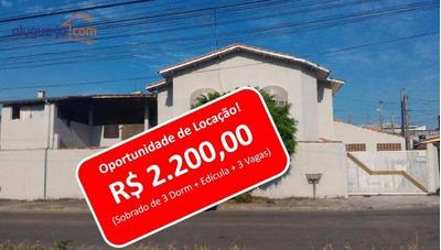 Sobrado Com 3 Dormitórios Para Alugar, 175 M² Por R$ 2.200/mês - Residencial São Francisco - São José Dos Campos/sp - So0047