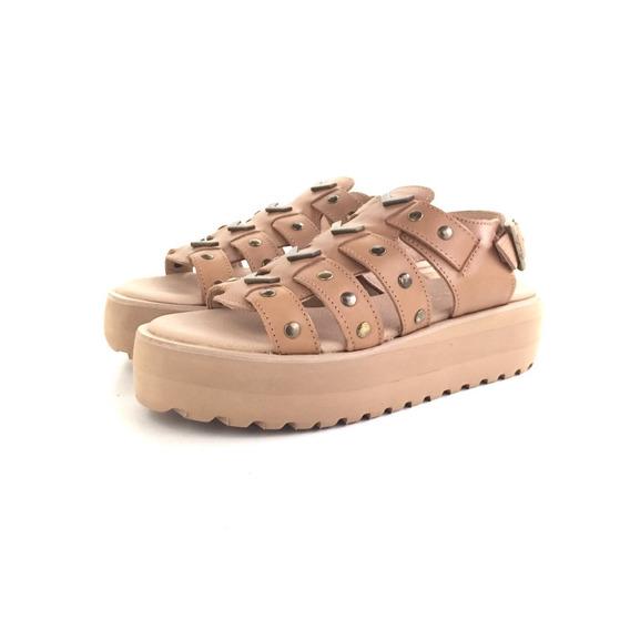 Citadina Larroma Sandalia Cuero El Mercado De Zapatos!