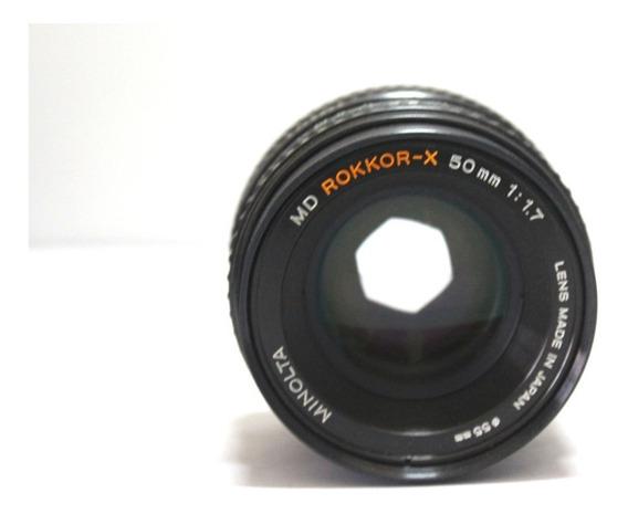 Lente Minolta 50mm 1.7 Retro Coleção Retirada De Peça