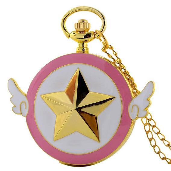 Reloj Sakura Card Captor De Bolsillo Anime Collar