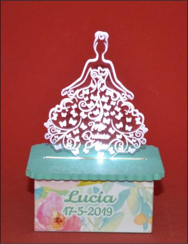 Imagen 1 de 5 de 30 Souvenirs Acrilico Cumple 15 Años Boda Con Luz Led