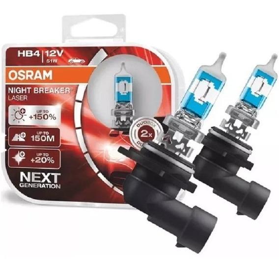 Par Lâmpada Osram Night Breaker Laser Hb4 150% +luz 51w/12v