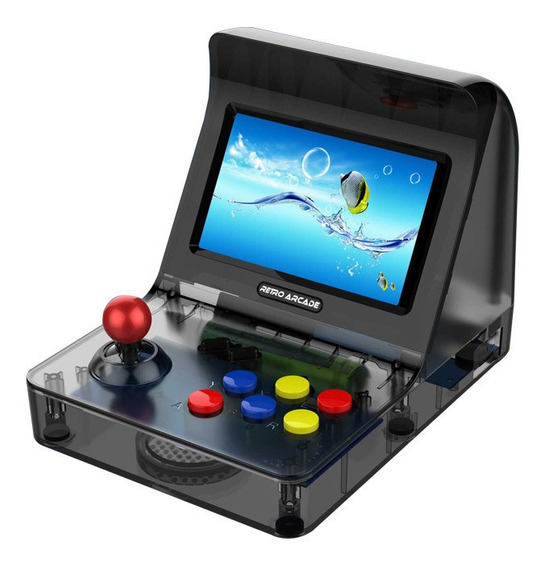 Retro Arcade 2 Joys Preto Rs-07 16gb 17em1 E50vp