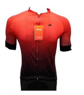 Camisa Ciclismo Europa Vermelha Masculina Marelli