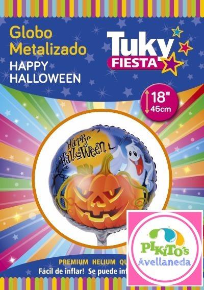 Globo Forma Redondo Happy Halloween Calabaza 46cm Mylar