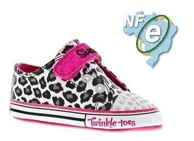 Tenis Feminino Infantil Skechers Twinkle Toes Nº 17 + Nfe