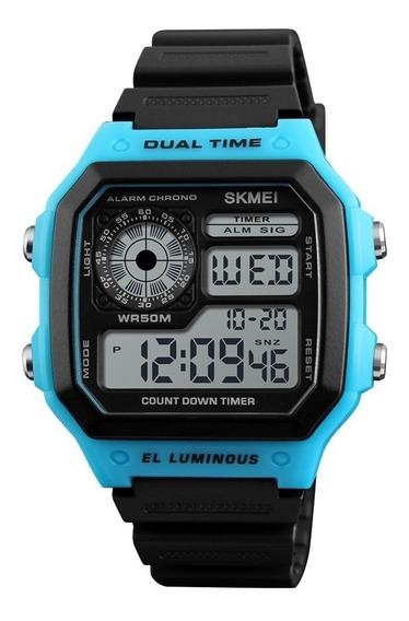 Relógio Skmei 1299 Digital Caixa Quadrada Cores Barato