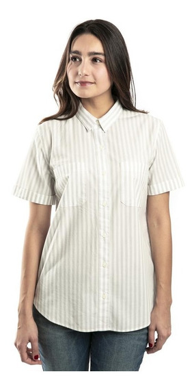 Oferta Blusa Dockers® Mujer Blanco New Relaxed Quiet Gray