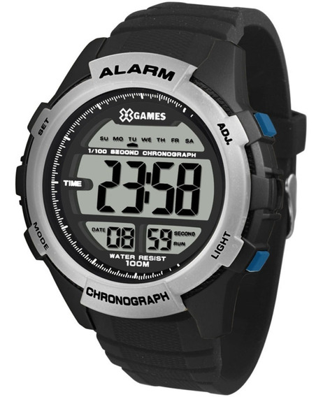 Relógio Digital Xgames Xmppd536 Bxpx Preto E Azul Xmppd 536