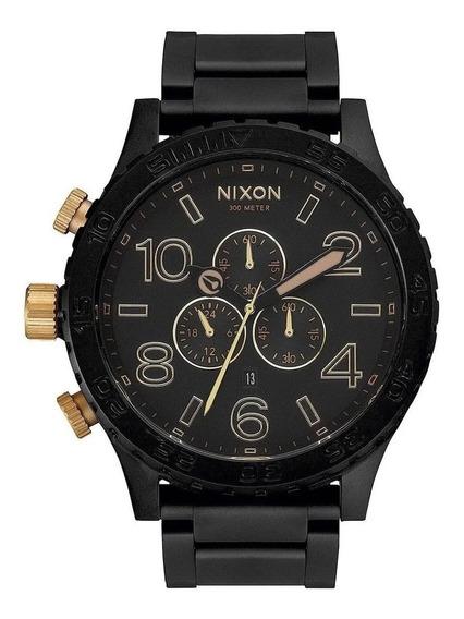 Relógio N-942 Nixon 51-30 Cronos Black - Golden Promoção