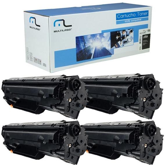 Kit 4 Toner 285a 85a Compatível Novo P1102w 1212 1132