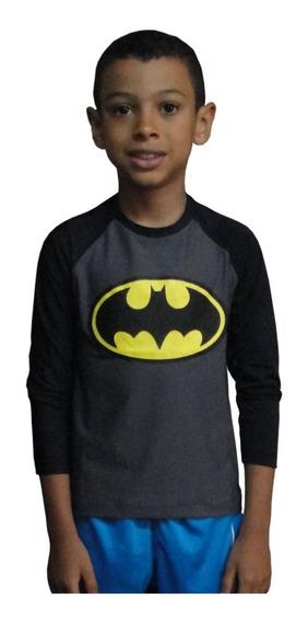 Camiseta Infantil Batman Proteção Solar Uv 50+praia, Piscina