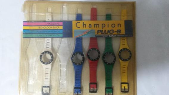Pulseira Vintage [1980] Relógio Champion Plug-b Leia Tudo.