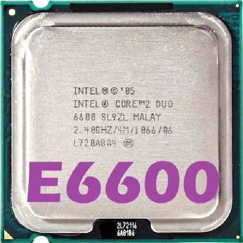 Imagem 1 de 7 de Processador Intel Core 2 Duo E6600 2.40ghz 4mb Fsb 1066 775