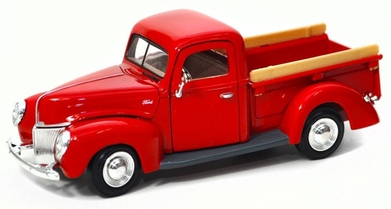 Miniatura Ford Pickup 1940 Metal Escala 1:24