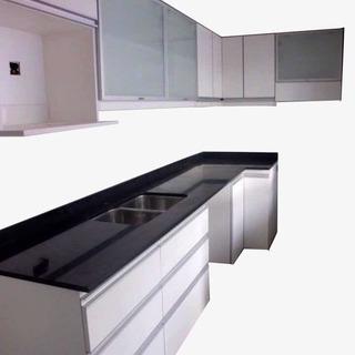 Muebles De Cocina Bajo Mesada 100 Cm. 2 Puertas De Abrir .