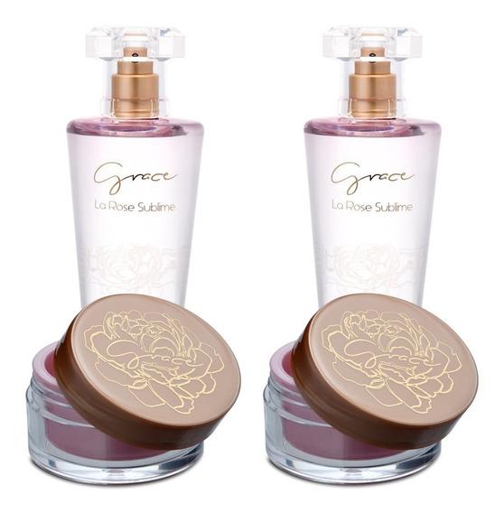 2 Perfume Grace 100ml + 2 Sérum Para Mãos La Rose Sublime