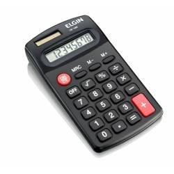 Maquina Calculadora 8 Dig Bolso Elgin Preta 10und (7502)