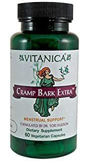 Vitanica Cramp Bark Extra, Menstrual Support, Vegan, 60 Caps