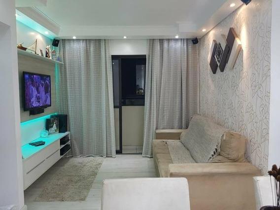 Vendo Lindo Apartamento No Condomínio No Guarapiranga Park 65m² Todo Mobiliado - Ap2359