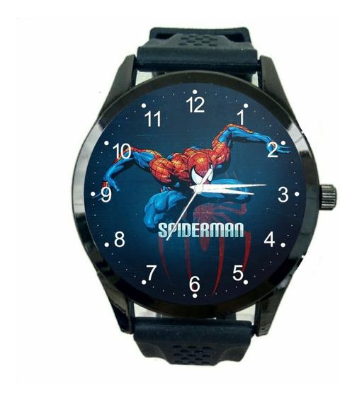 Homem Aranha Relógio Unissex Promoção Herois Marvel Hq T520