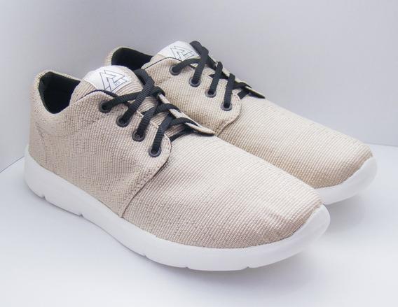 Zapatillas Marca Rcn Ultralivianas Color Beige