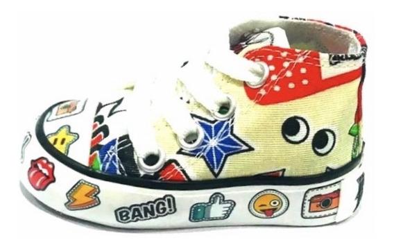 Bota De Lona Estampada De Niños (roller Pow 52)
