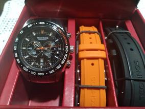 Relógio Technos Cronógrafo Troca Pulseira Os20hm1p