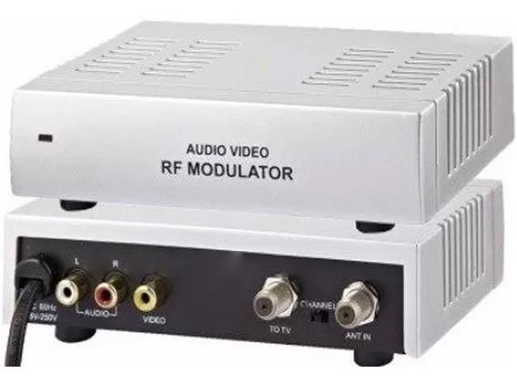 5 Mini Modulador Conversor De Rf P/ Áudio Vídeo