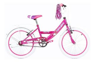 Bicicleta Top Mega Princess R20 Nena Portapaquetes Canasto