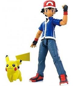 Boneco Pokémon Ash E Pikachu Tomy Original Oficial Nf :)