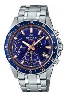 Reloj Casio Edifice Hombre Efv-540d-2av Plateado 18 Cuotas