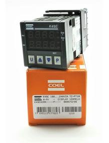 Controlador De Temperatura K49ehcrr C/ Saída A Relé Coel