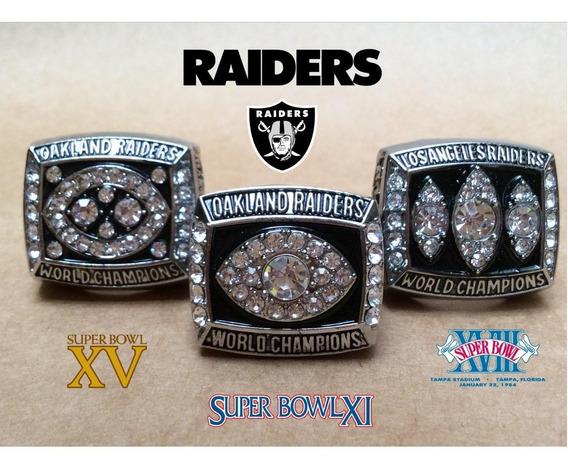 Colección Raiders Super Bowl Anillos