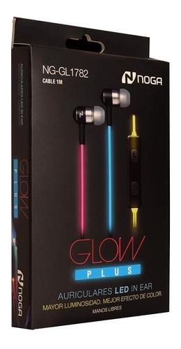 Auriculares Celular Manos Libre Luz Led En Cable Noga Gl1782