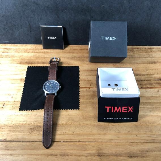 Timex Waterbury Original Masculino Pulseira Couro. Raro!