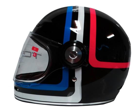 Casco Para Moto Torc T1 Americana Tron Café Racer Motocity